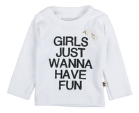 Wooden Buttons T-shirt met lange mouwen Girls just wanna have fun wit