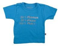 Wooden Buttons T-shirt à manches courtes 50% Maman 50% Papa 100% Moi! aqua taille 50/56