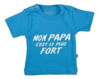 Wooden Buttons T-shirt met korte mouwen Mon Papa c'est le plus fort