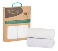 Tutti Bambini Hoeslaken voor wieg grey katoen B 51 x L 81 cm - 2 stuks-Artikeldetail