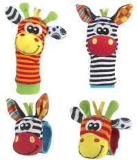 Playgro Pols- en voetrammelaar Jungle Wrist Rattle & Foot Finder - 4 stuks-Vooraanzicht