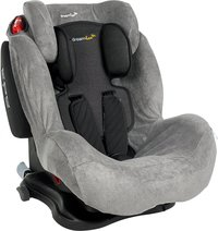 Dreambee Housse d'été pour siège-auto groupe 1/2/3 gris tissu-éponge-Avant