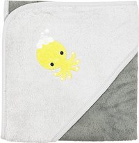 Dreambee Cape de bain Otto gris/gris foncé Lg 80 x L 80 cm