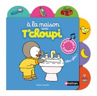 Babyboek À la maison avec T'choupi - Thierry Courtin