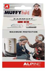 Alpine Oorbeschermers Muffy Baby black-Vooraanzicht