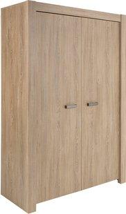Armoire 2 portes Boris décor chêne
