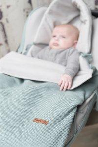 Baby's Only Voetenzak voor draagbare autostoel Classic stone green-Afbeelding 2