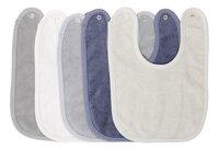 Dreambee Slabbetje Essentials met drukknoppen blauw/grijs/kaki - 5 stuks-Vooraanzicht