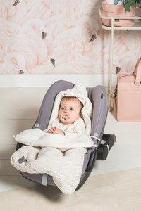 Jollein Voetenzak voor draagbare autostoel River knit  cream white-Afbeelding 2