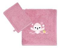 Dreambee Serviette + gant de toilette Lila & Lou Lila - 2 pièces-Avant