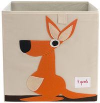 3Sprouts Opbergbox kangoeroe oranje