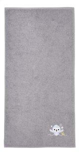 Dreambee Serviette + gant de toilette Lila & Lou Lou gris - 2 pièces-Détail de l'article
