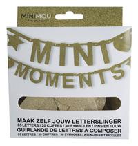 Minimou Letterslinger Mini moments goud glitter-Vooraanzicht