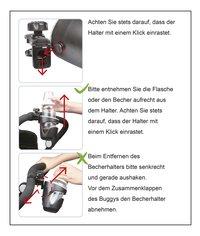 Dreambee Porte-gobelet pour poussette ou buggy noir-Détail de l'article