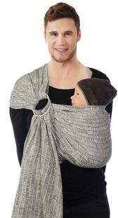 Babylonia Écharpe porte-bébé BB-Sling Bold gris-Image 1
