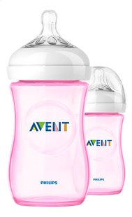 Philips AVENT Biberon Natural 260 ml - 2 pièces rose