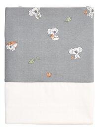 Dreambee Drap pour berceau ou parc Kai blanc/gris coton-Avant