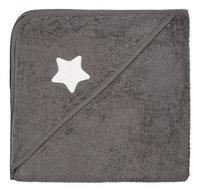 Dreambee Cape de bain Essentials étoile gris foncé Lg 80 x L 80 cm-Avant
