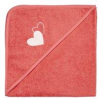 Dreambee Cape de bain Essentials coeur rose foncé Lg 80 x L 80 cm-Avant