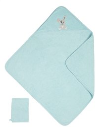 Dreambee Cape de bain et gant de toilette Nino menthe-Avant