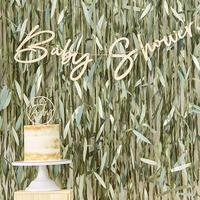 Ginger Ray Slinger Baby Shower Botanical hout-Afbeelding 1
