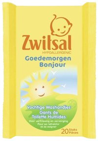 Zwitsal Gants de toilette humides Bonjour - 20 pièces