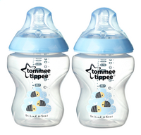 Tommee Tippee Zuigfles Closer to Nature Easy-Vent blauw 260 ml - 2 stuks