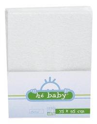 Hé Baby Drap-housse en éponge blanc-Avant