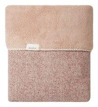 Koeka Deken voor wieg of park Vigo teddy/jacquards old pink-commercieel beeld