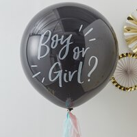 Ginger Ray Ballon à confettis Gender Reveal XL noir-Image 1
