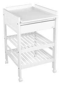Troll Table à langer avec tiroir Loft blanc-Côté gauche