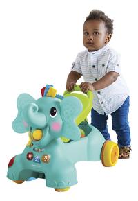 Infantino Loopwagen Sensory 3 in 1 Ride On Elephant blauw/groen-Afbeelding 1