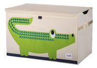 3Sprouts Speelgoedkoffer krokodil-Vooraanzicht