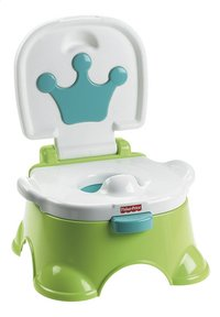 Fisher-Price Petit pot musical 3-en-1 Royal Potty vert/blanc-Avant