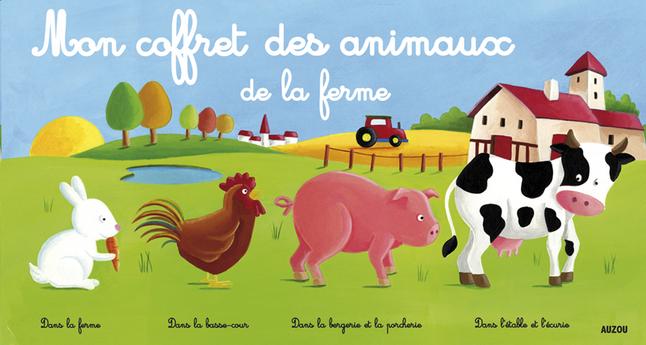 Super Livre pour bébé Mon coffret des animaux de la ferme | Dreambaby AD99