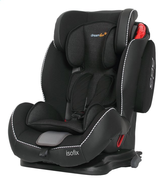 Dreambee autostoel essentials isofix groep 1 2 3 zwart - Siege auto groupe 2 3 isofix inclinable ...