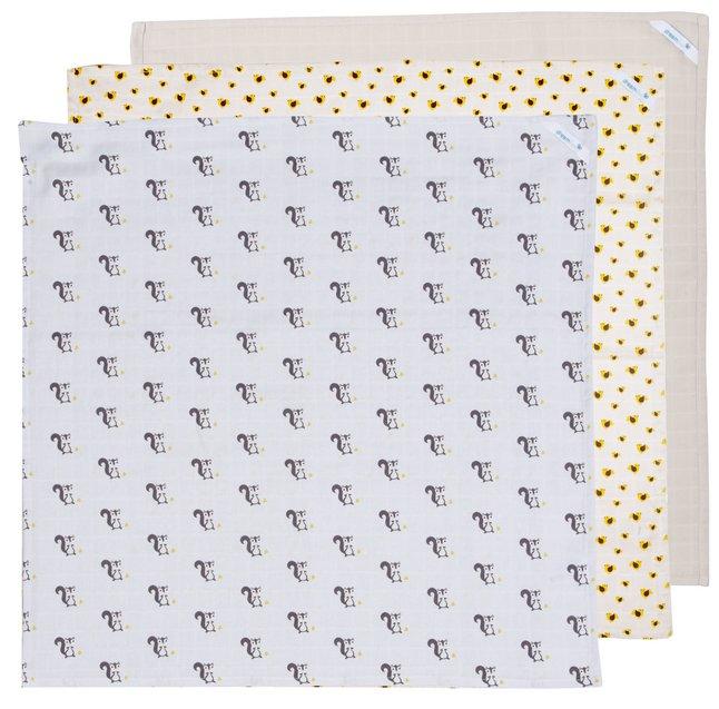 Image pour Dreambee Lingette tetra Ayko gris clair/crème - 3 pièces à partir de Dreambaby