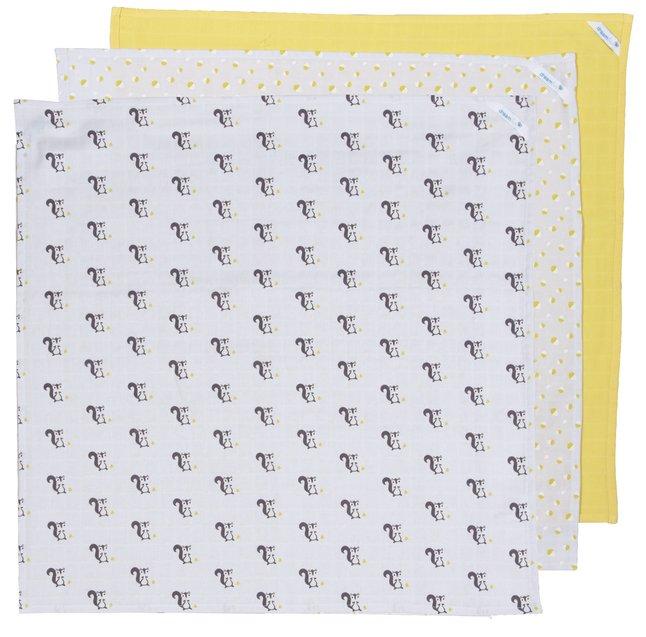 Image pour Dreambee Lingette tetra Ayko gris clair/jaune - 3 pièces à partir de Dreambaby