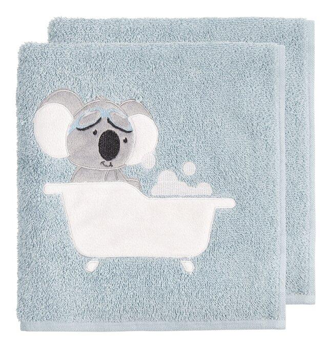 Dreambee Serviette Kai Lg 50 x L 100 cm bleu - 2 pièces
