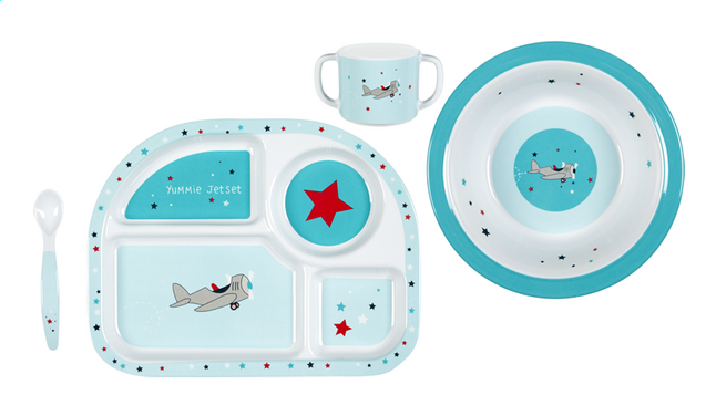 Afbeelding van Lässig 4-delige eetset Little Airplane from Dreambaby