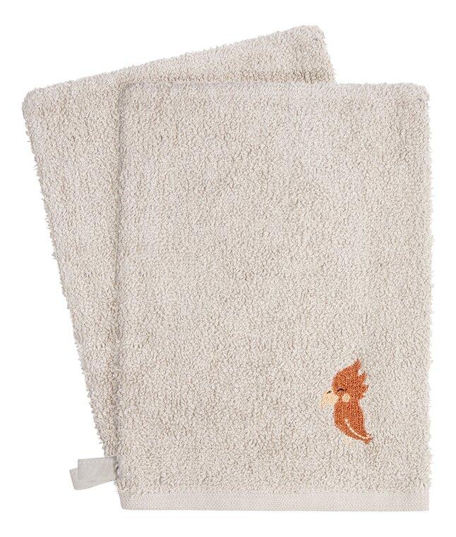 Dreambee Gant de toilette Kai gris clair - 2 pièces