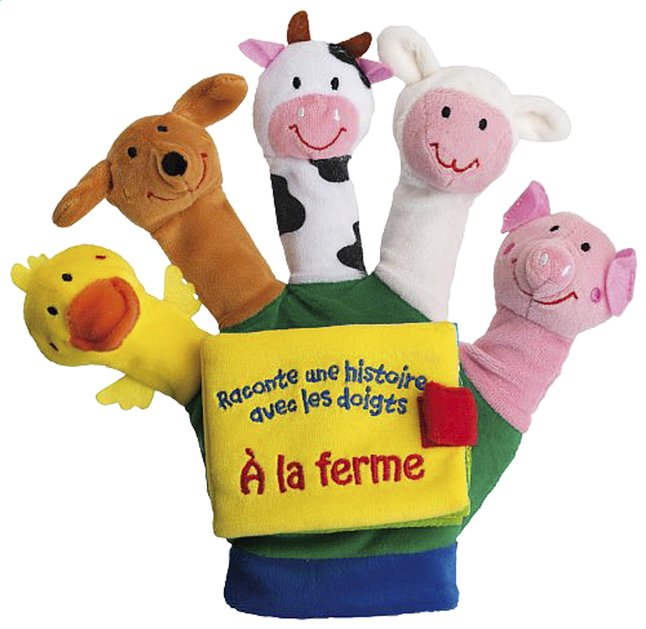Afbeelding van Raconte une histoire avec les doigts : À la ferme from Dreambaby