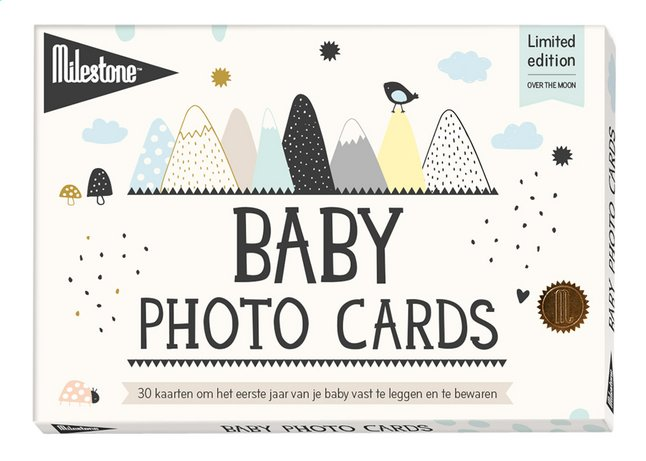 Milestone Baby Cards Over the Moon (NL)