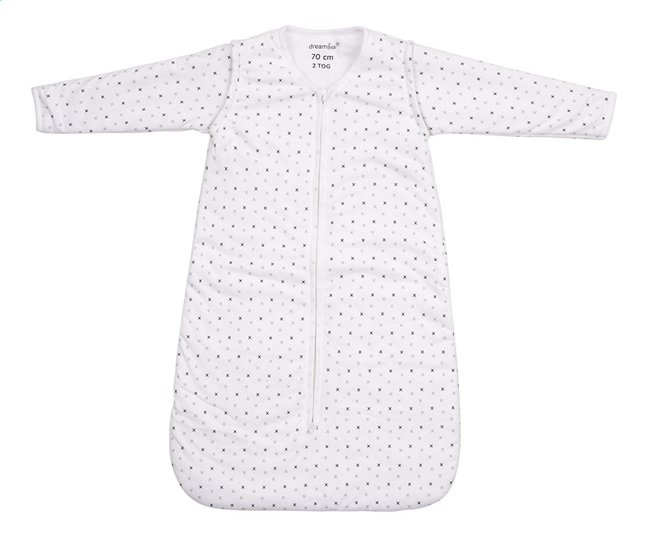 Image pour Dreambee Sac de couchage d'hiver Essentials allover croix jersey gris 70 cm à partir de Dreambaby