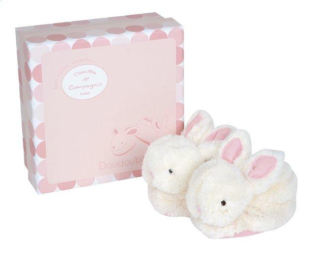 Afbeelding van Doudou et Compagnie Pantoffeltjes Lapin Bonbon met rammelaar roze from Dreambaby