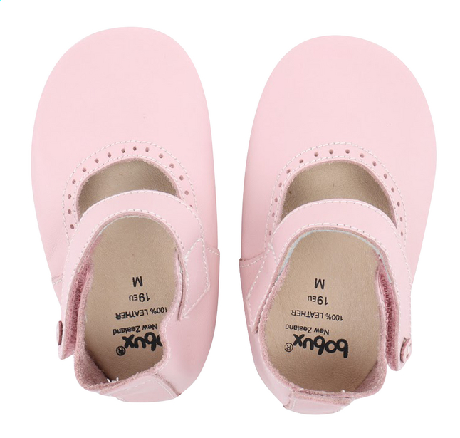 Image pour Bobux Chaussons Soft soles Mary Jane light pink à partir de Dreambaby