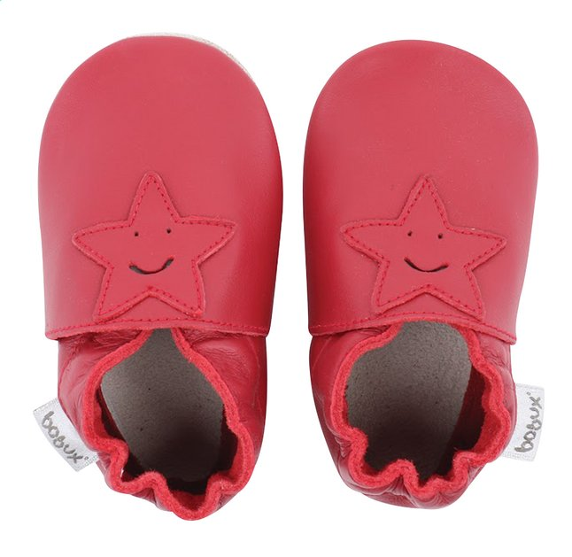 Afbeelding van Bobux Schoentjes Soft soles Smiling Star red from Dreambaby
