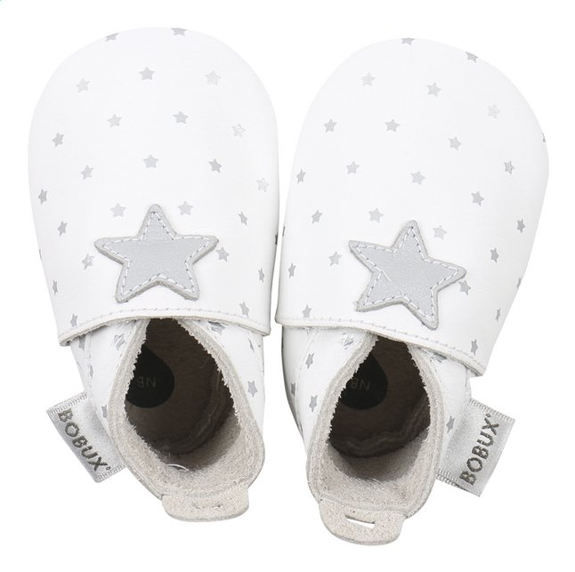 Afbeelding van Bobux Schoentjes Soft sole Silver Star Print white maat 15 from Dreambaby