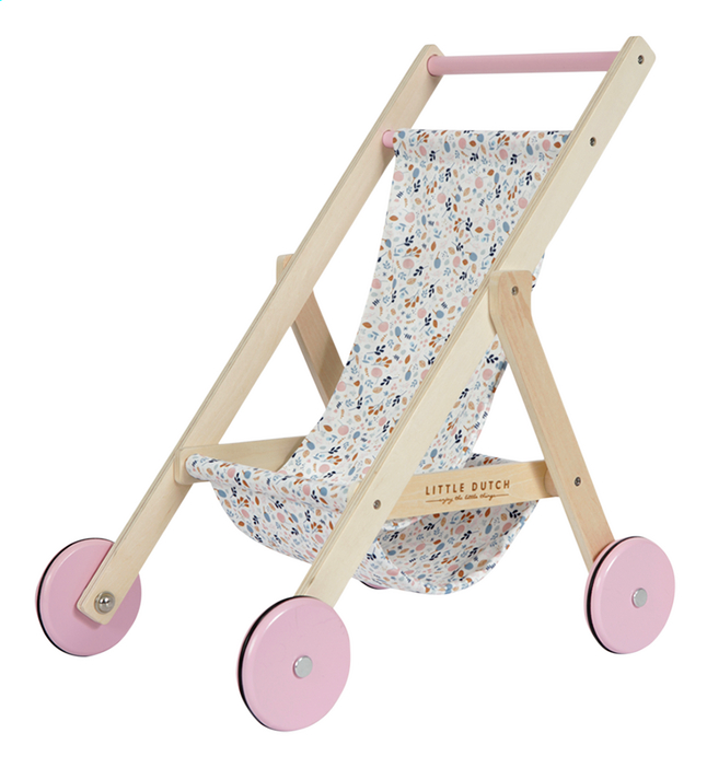Afbeelding van Little Dutch Houten poppenwagen Spring Flowers from Dreambaby