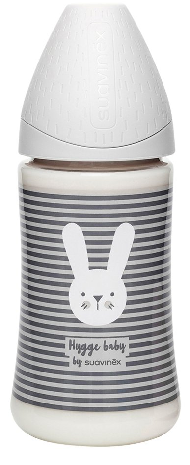 Suavinex Zuigfles Hygge Grey Lines 270 ml